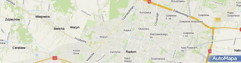 Zdjęcie satelitarne Zofia Grzyb - Działalność Gospodarcza