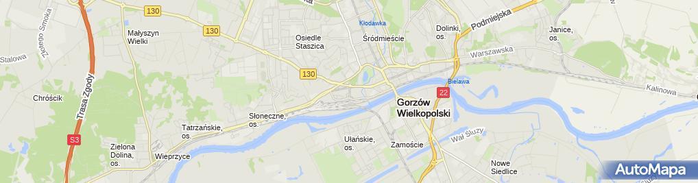 Zdjęcie satelitarne Zofia Kowalkowska - Działalność Gospodarcza