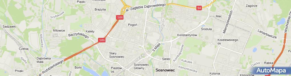 Zdjęcie satelitarne Zofia Mirek Handel Obwoźny
