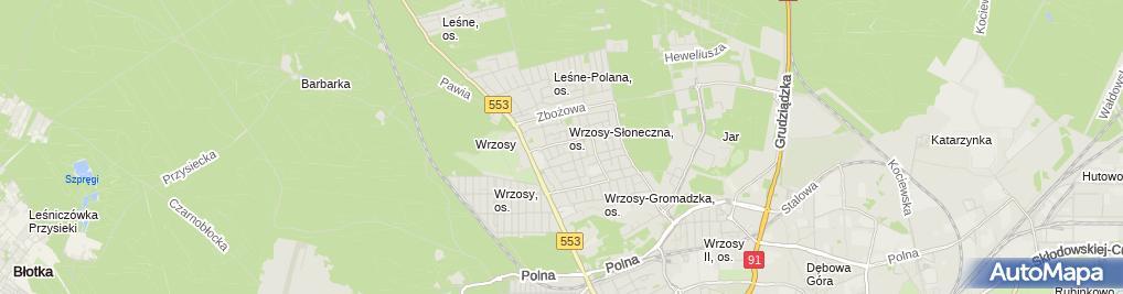 Zdjęcie satelitarne Zoofoto Przeds Usł Prod Handl Kuź Mamerta Igłowska Halina