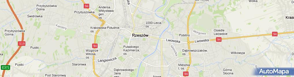 Zdjęcie satelitarne Zryw II - Ośrodek Szkolenia Kierowców Marta Skowron