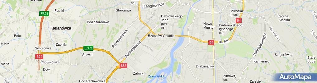 Zdjęcie satelitarne Związek Nauczycielstwa Polskiego w Politechnice Rzeszowskiej