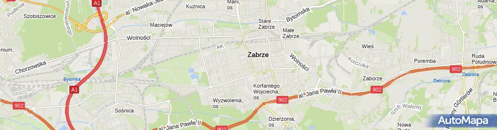 Zdjęcie satelitarne Związek Pracodawców Ochrony Zdrowia Województwa Śląskiego Porozumienie Zielonogórskie