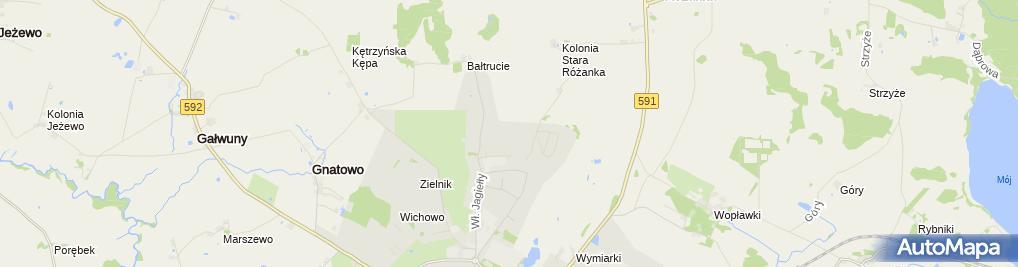 Zdjęcie satelitarne Związek Zawodowy Pracowników Pogotowia Ratunkowego w Kętrzynie