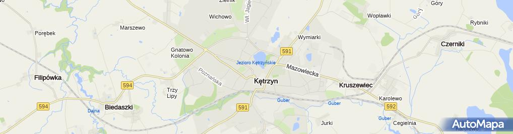 Zdjęcie satelitarne Związek Zawodowy Pracowników Samorządowych Urzędu Gminy Kętrzyn