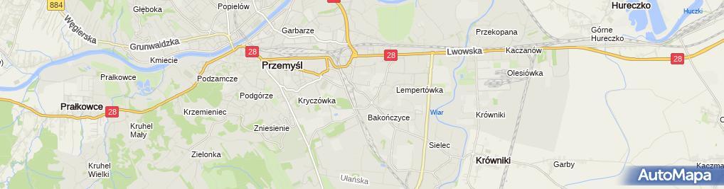 Zdjęcie satelitarne Związek Zawodowy Przemysłu Elektromaszynowego w F A E Fanina w Przemyślu