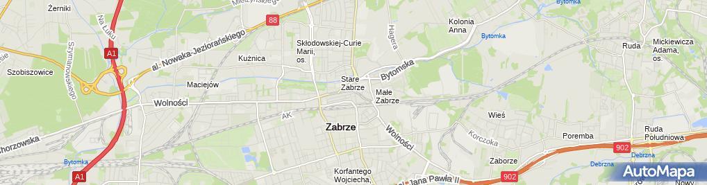 Zdjęcie satelitarne Żwirska Korczala Krystyna