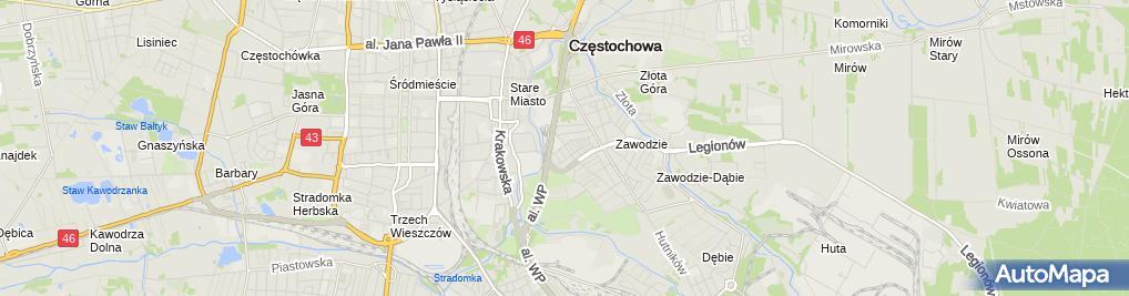 Zdjęcie satelitarne Miejskie Przedszkole Nr 22 Im. Marii Montessori