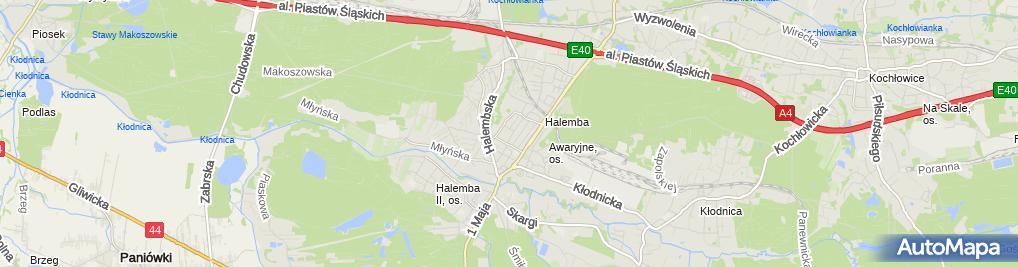 Zdjęcie satelitarne Miejskie Przedszkole Nr 39 Im. Bajkolandii