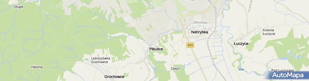 Zdjęcie satelitarne Niepubliczne Przedszkole Specjalne 'Nad Jaworem'