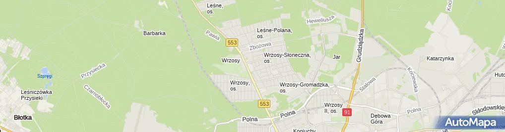 Zdjęcie satelitarne Niepubliczne Przedszkole Terapeutyczne 'Mały Książę'