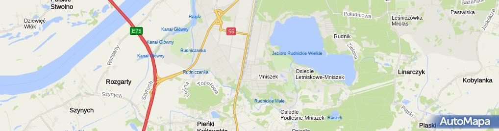 Zdjęcie satelitarne Przedszkole Miejskie 'Mniszek'