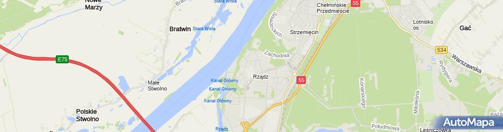 Zdjęcie satelitarne Przedszkole Miejskie 'Rządz'
