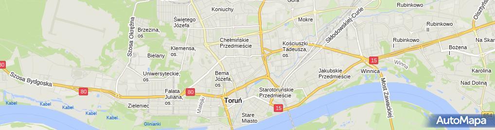 Zdjęcie satelitarne Przedszkole Miejskie Nr 5 Im.juliana Tuwima