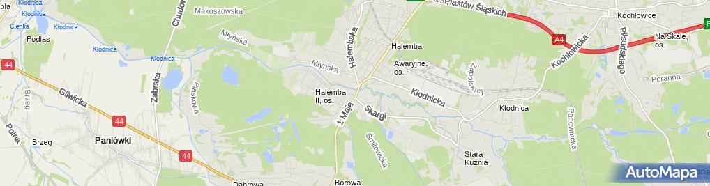 Zdjęcie satelitarne Przedszkole Niepubliczne 'Miodowa Chatka'