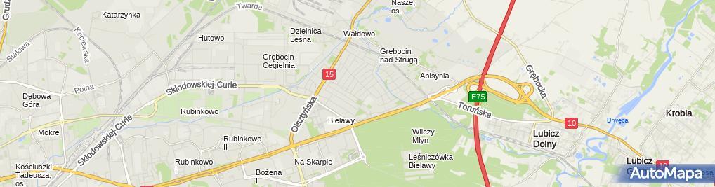 Zdjęcie satelitarne Przedszkole Niepubliczne Akademia Rozwoju 'Zielona Droga'