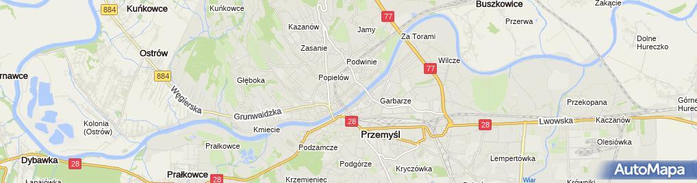 Zdjęcie satelitarne Przedszkole Niepubliczne Mały Nazaret Stowarzyszenia Rodzin Katolickich Archidiecezji Przemyskiej