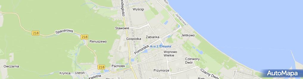Zdjęcie satelitarne Przedszkole Niepubliczne Wesoły Delfinek