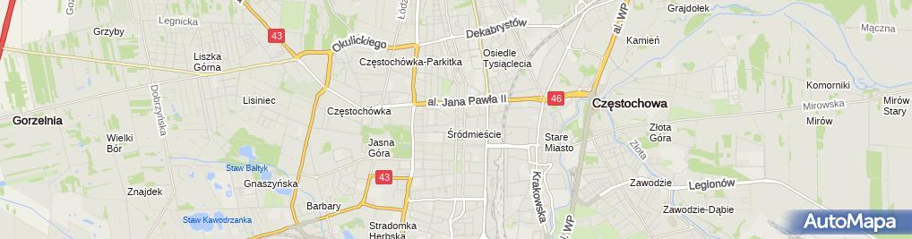 Zdjęcie satelitarne Przedszkole Publiczne Sióstr Nazaretanek Im. Bł. Franciszki Siedliskiej