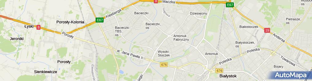 Zdjęcie satelitarne Przedszkole Samorządowe Nr 65