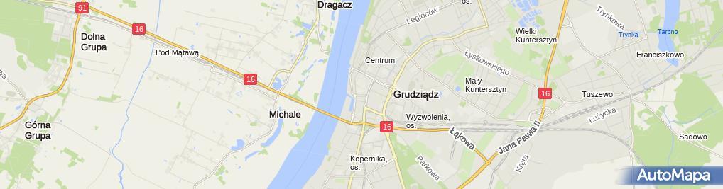 Zdjęcie satelitarne Przedszkole