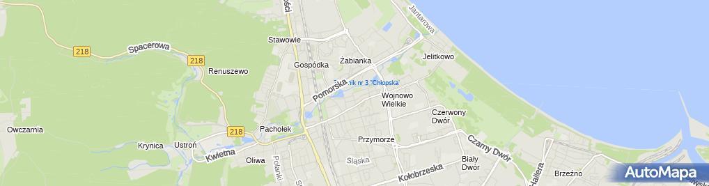 Zdjęcie satelitarne Punkt Przedszkolny 'Smerfikowa Chatka'
