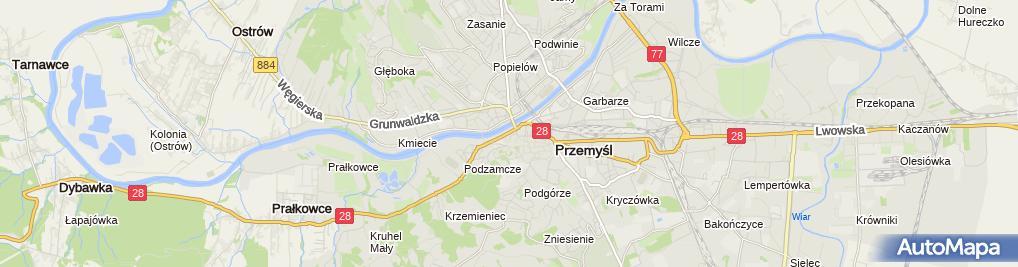 Zdjęcie satelitarne Przejście graniczne Przemyśl-Mościska
