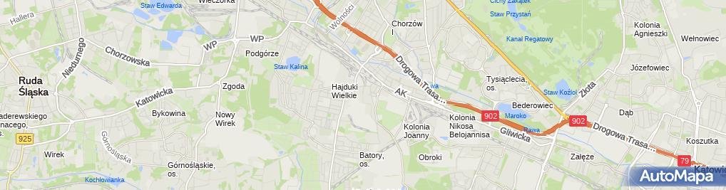 Zdjęcie satelitarne Alchemia-Chorzow