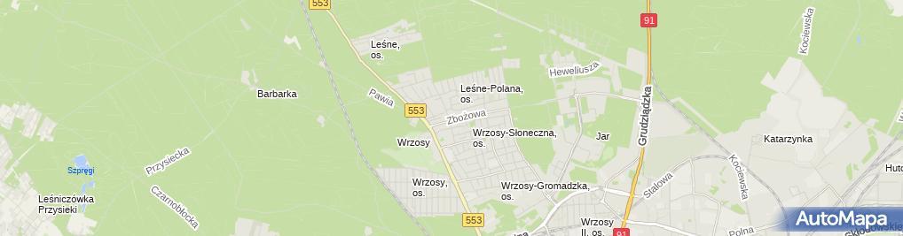 Zdjęcie satelitarne Indywidualna Praktyka Lekarska Monika Krzemińska, Moja Przychodnia Lekarze Rodzinni