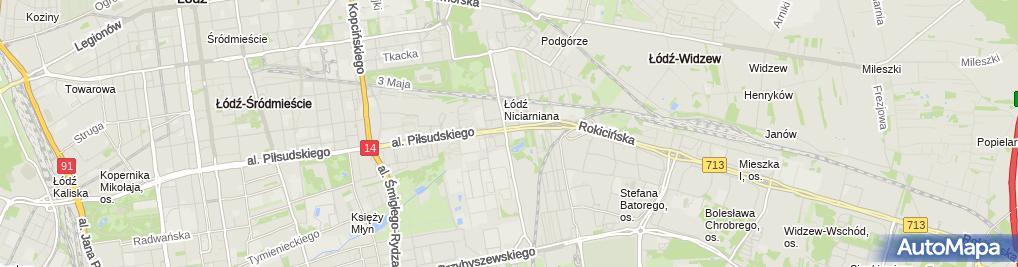 Zdjęcie satelitarne Miejska Przychodnia Widzew
