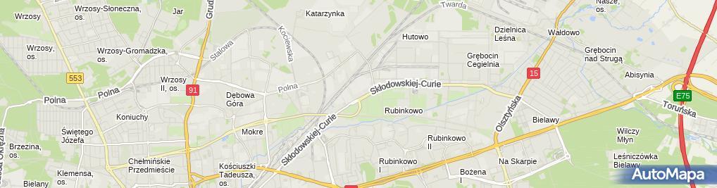 Zdjęcie satelitarne Przychodnia Medycyny Pracy Nr 1