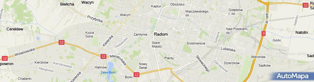Zdjęcie satelitarne Radomskie Centrum Słuchu i Mowy MEDINCUS