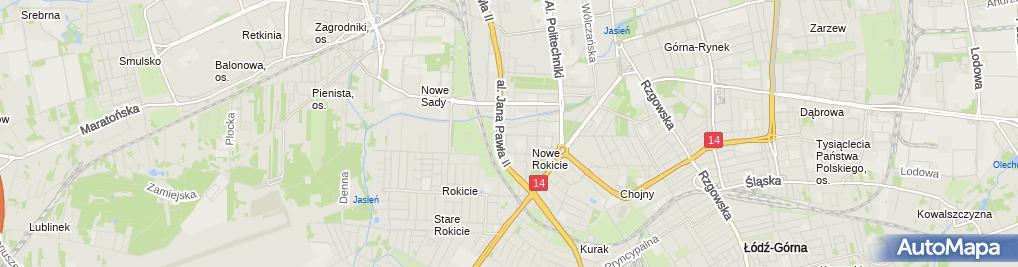 Zdjęcie satelitarne Wszywka alkoholowa Esperal - Klinika Espedis Łódź
