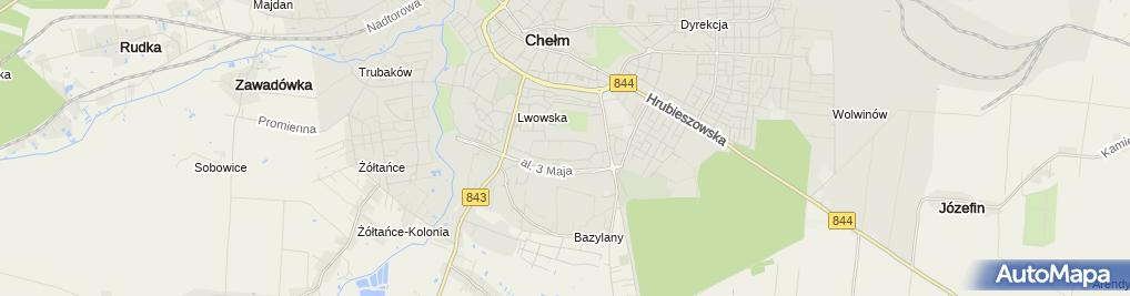 Zdjęcie satelitarne Psychologiczno-Pedagogiczny