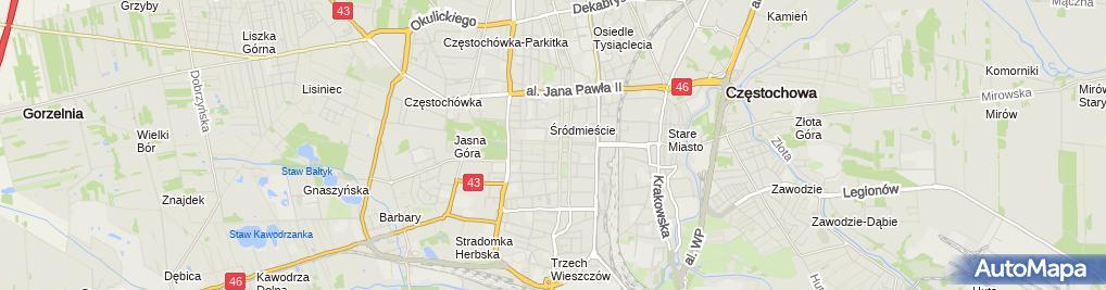 Zdjęcie satelitarne Piwnica
