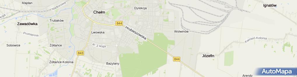 Zdjęcie satelitarne Pod Borkiem