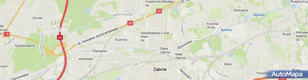 Zdjęcie satelitarne Pub Biały Słoń Lapidarium