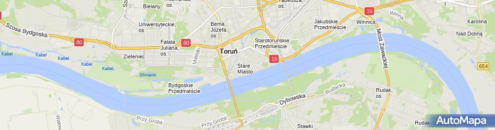 Zdjęcie satelitarne Pub Hacjenda Banach Zbigniew Andrzejczak Jacek