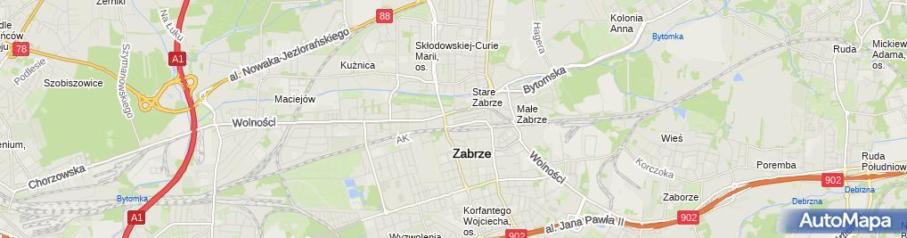 Zdjęcie satelitarne Pub Na Górce Grzegorz Mastalerz Ewa Kochel
