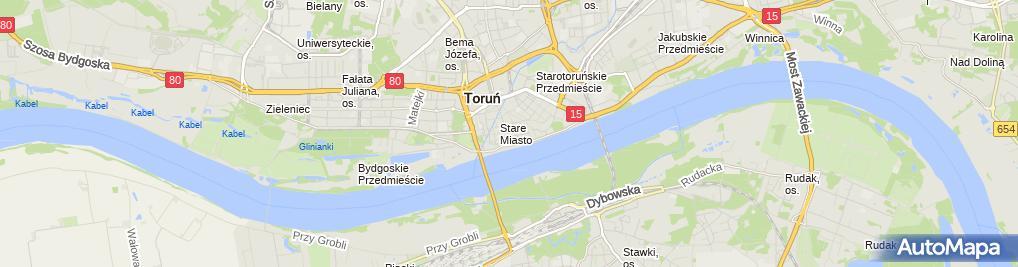 Zdjęcie satelitarne Katedra Św. Janów