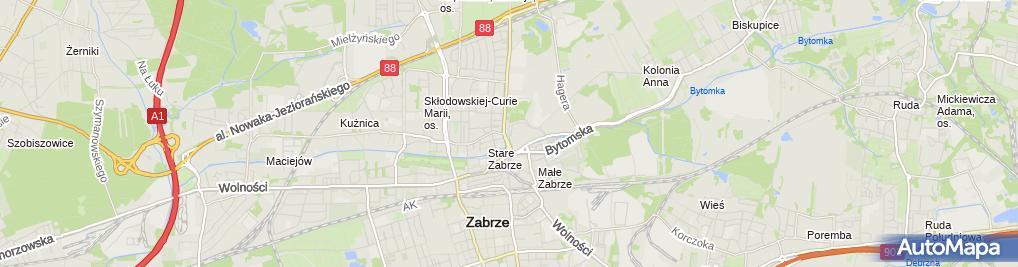 Zdjęcie satelitarne Radio Silesia 96,2