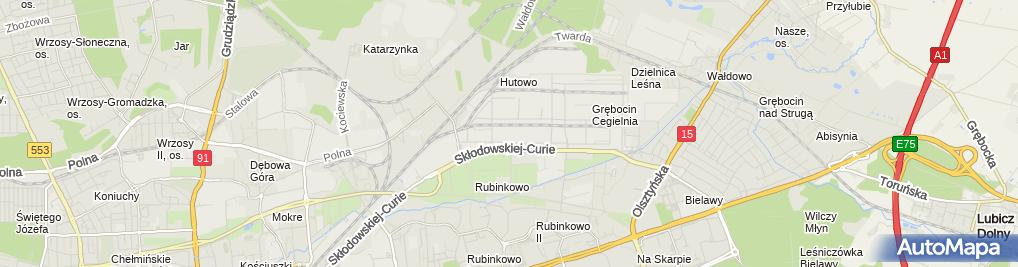 Zdjęcie satelitarne Lokal Elena – wesele, catering Toruń