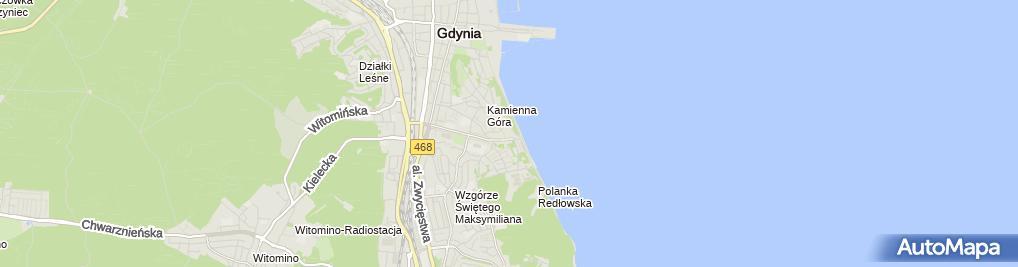 Zdjęcie satelitarne Restauracja Antracyt