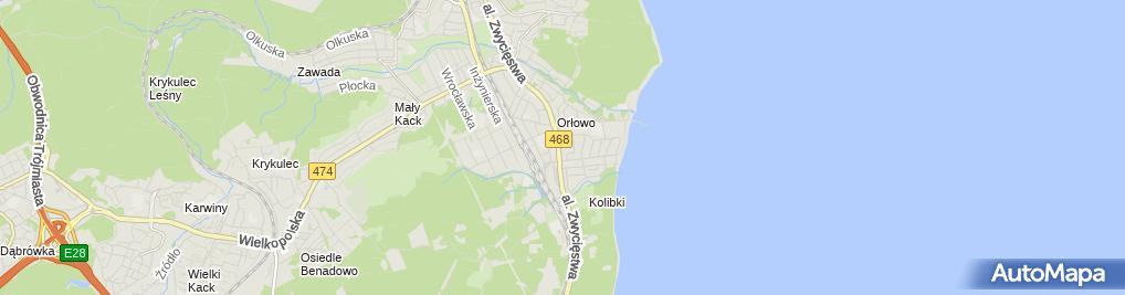 Zdjęcie satelitarne Restauracja Kuracyjny