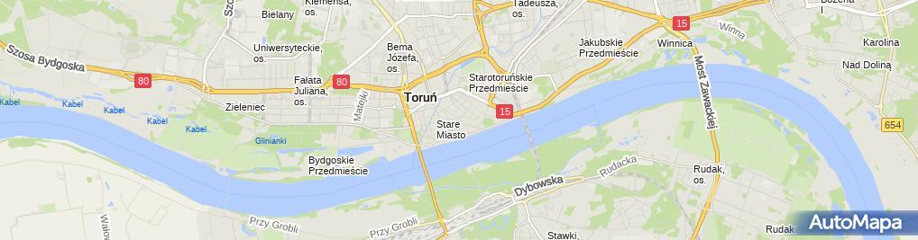 Zdjęcie satelitarne RESTAURACJA RÓŻE I ZEN