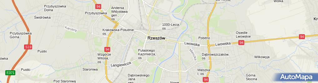 Zdjęcie satelitarne Rzeszowska