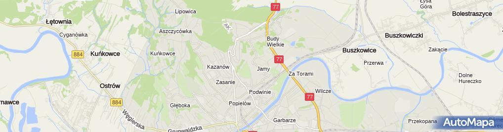 Zdjęcie satelitarne Rezerwat Winna Góra