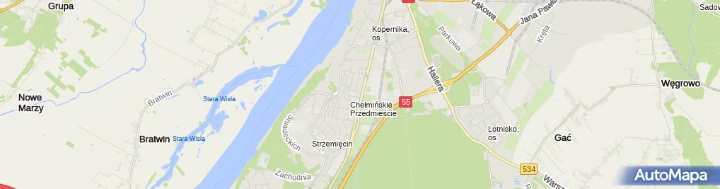 Zdjęcie satelitarne RC Grudziądz