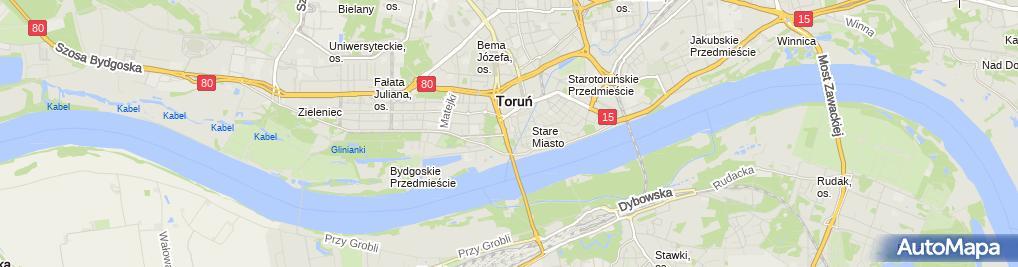 Zdjęcie satelitarne Toruński Rower Miejski - stacja nr 3