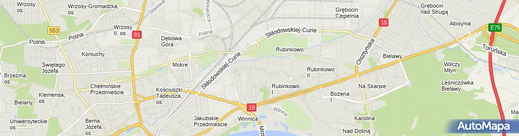 Zdjęcie satelitarne Kiosk Ruch